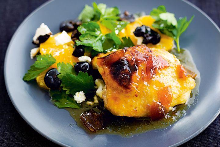 Roast marmalade chicken with winter salad 1