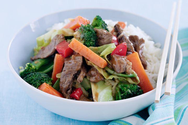 Satay beef stir-fry 1