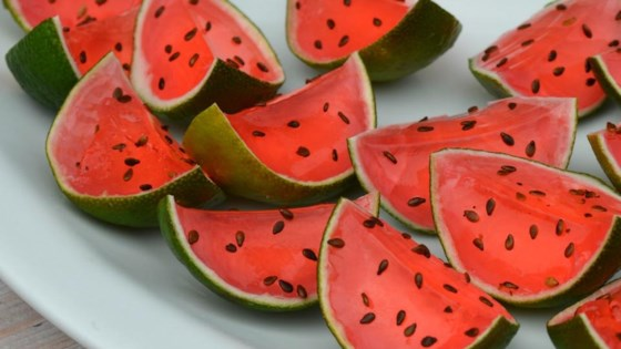 Sliced Watermelon Jell-O® Shots 1