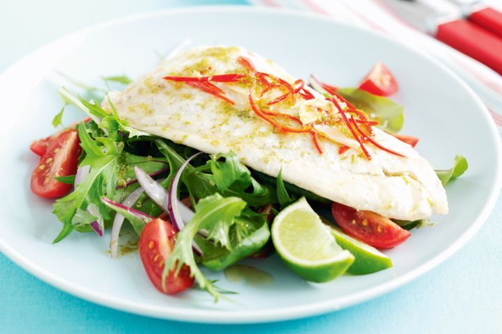 Snapper with Asian green salad 1