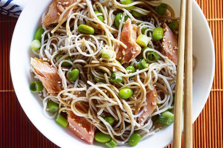 Soba noodles with salmon & ponzu sauce 1