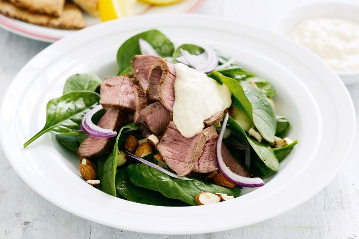 Spiced lamb and spinach salad 1