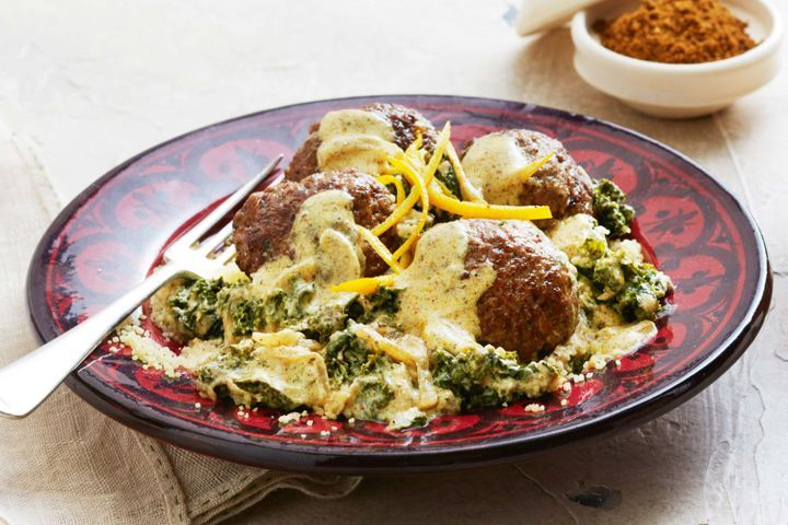 Spiced meatballs with ras el hanout and yoghurt 1