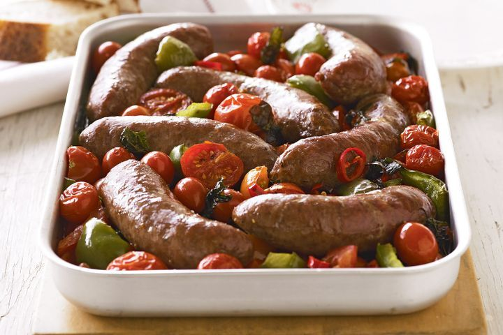 Spicy beef sausage bake 1