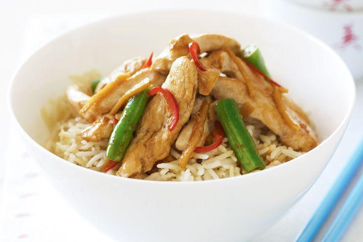 Spicy ginger chicken stir-fry 1