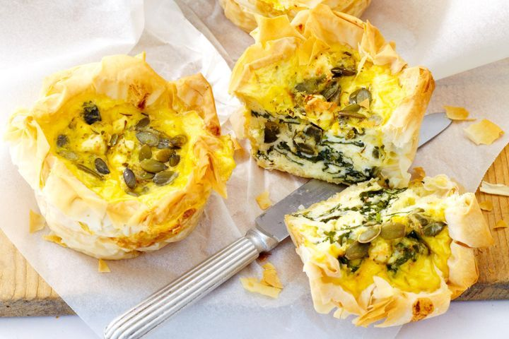 Spinach and ricotta filo pies 1