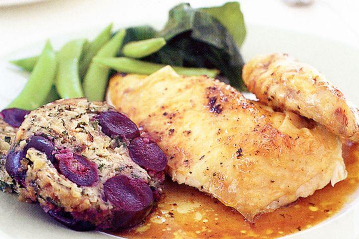 Star anise orange chicken with cherry seasoning 1