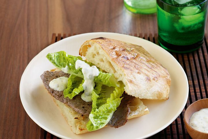 Steak sandwiches with caper mayonnaise 1