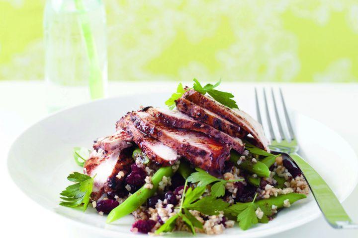 Sumac chicken, & burghul salad 1