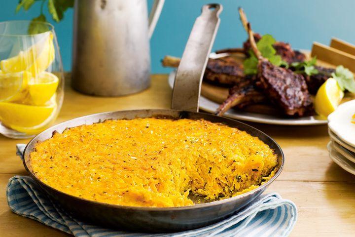 Sumac lamb with carrot rosti 1