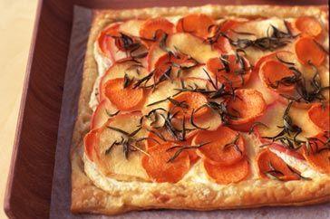 Sweet potato & apple tart 1