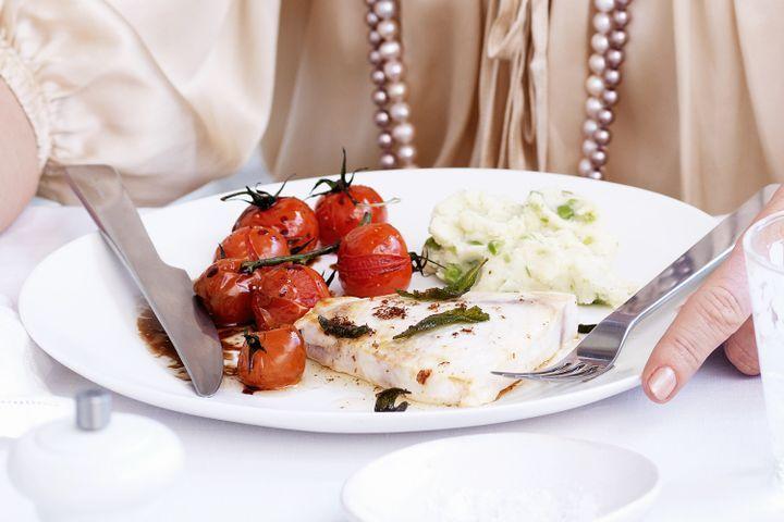 Swordfish in sage olive oil 1