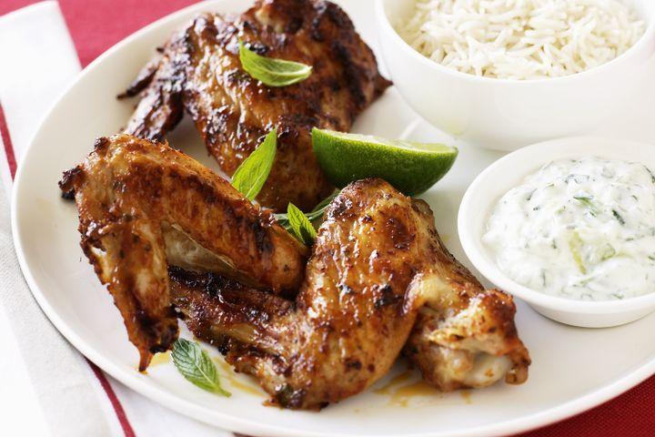 Tandoori wings with cucumber yoghurt 1