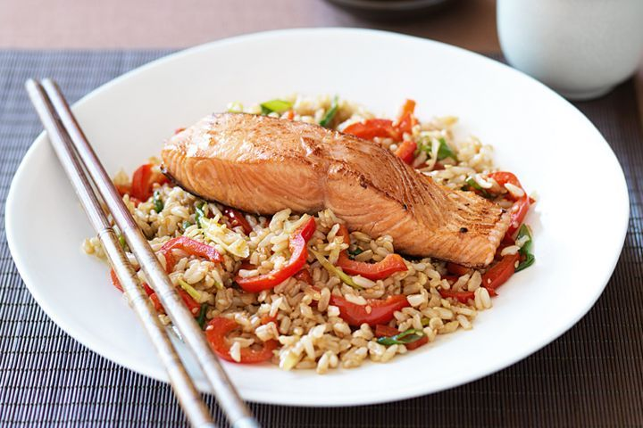 Teriyaki and sesame salmon 1
