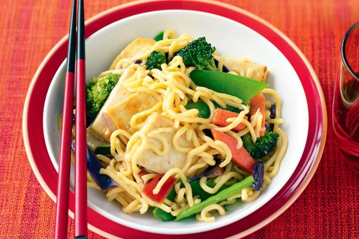 Tofu and vegetable stir-fry 1