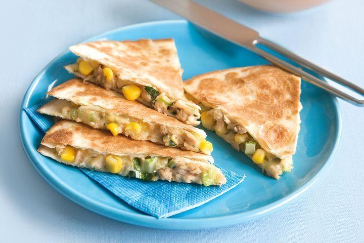 Tuna and corn quesadillas 1