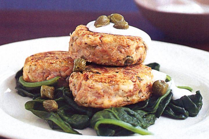 Tuna, potato & caper patties 1