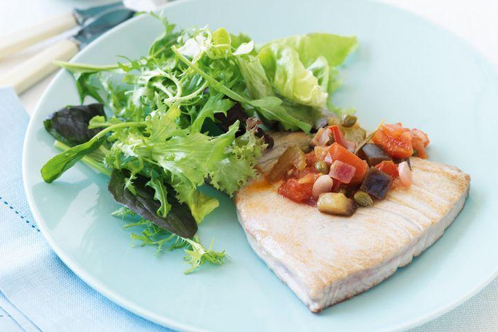 Tuna steaks with caponata 1
