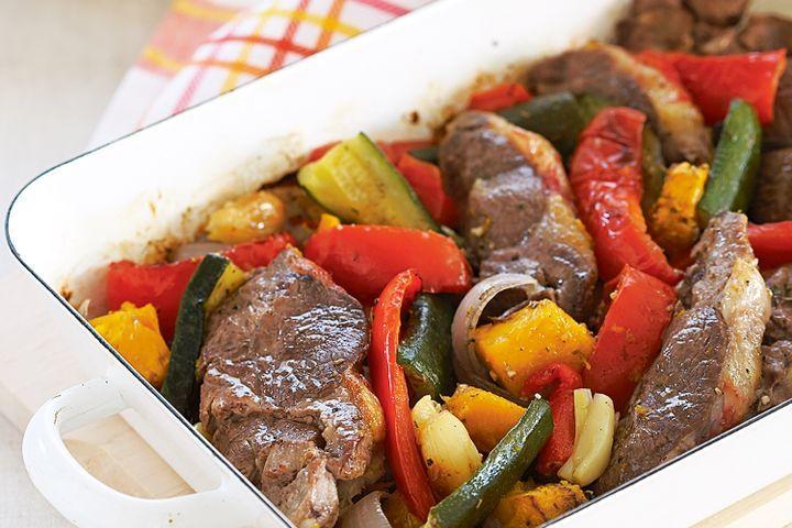 Tuscan lamb and vegetable bake 1