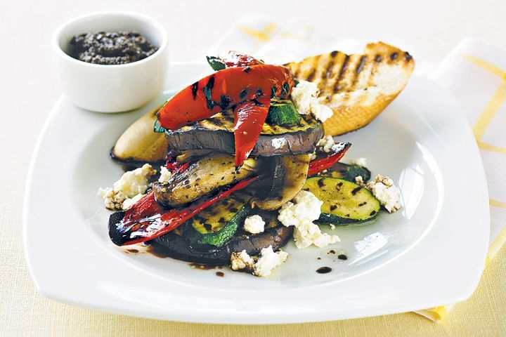 Vegetable and ricotta stack 1