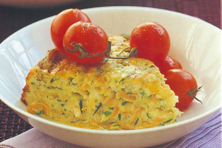 Zucchini and carrot bake 1