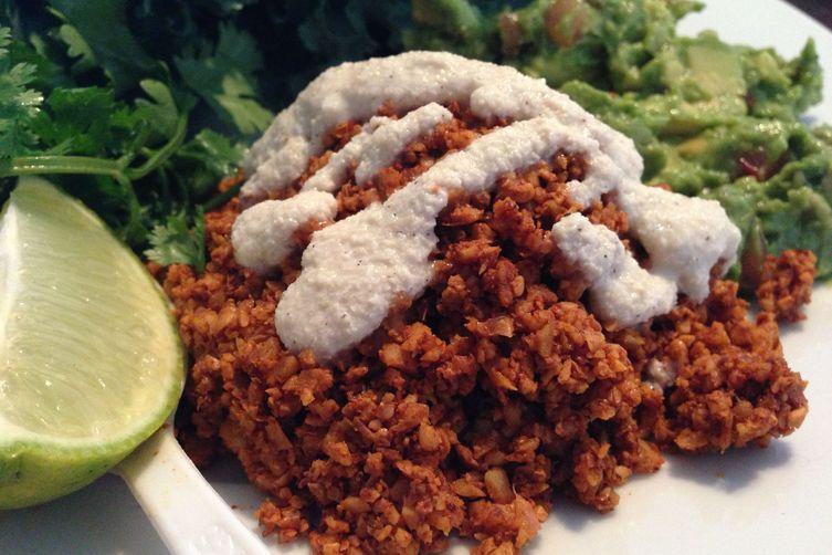 """Raw Vegan Tacos with Walnut""""Meat"""" 1"""