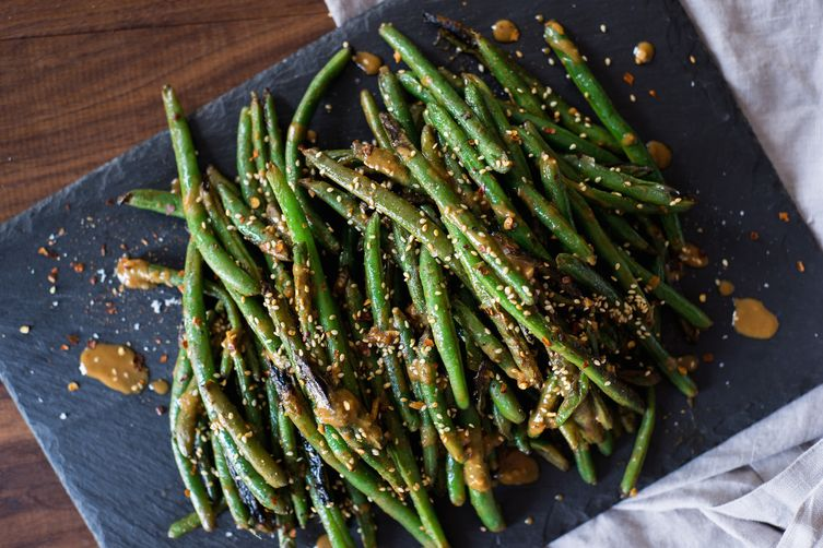 Green Beans with Tangy Sesame Sauce 1