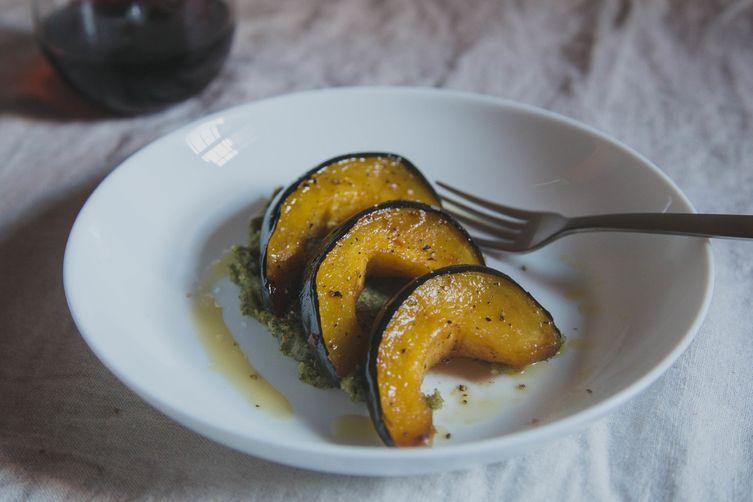 Acorn Squash with Almond SagePesto 1
