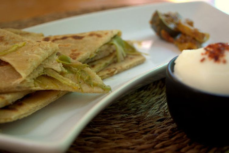 Radish & asparagusParatha 1