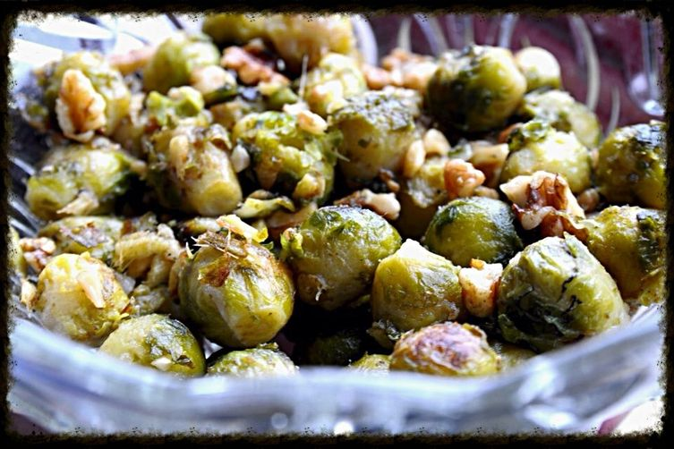 Roasted Brussel Sprouts with Butter &Walnuts 1