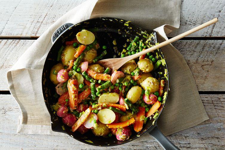 Spring Vegetable Jumble with Lemon-TarragonButter 1
