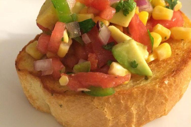 Salted Watermelon Salsa on TexasToast 1
