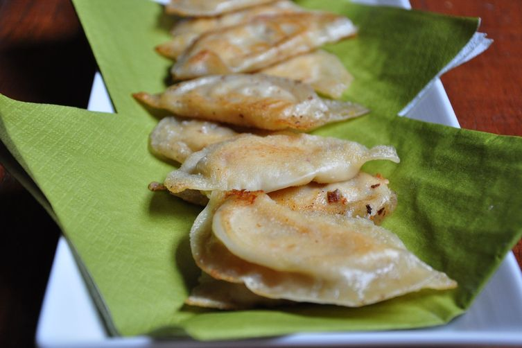 Spicy Cheese & Artichoke Pot Stickers 1