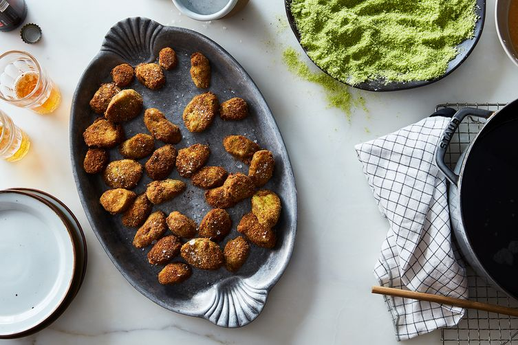 Fried Pickles with Herb Breadcrumbs 1