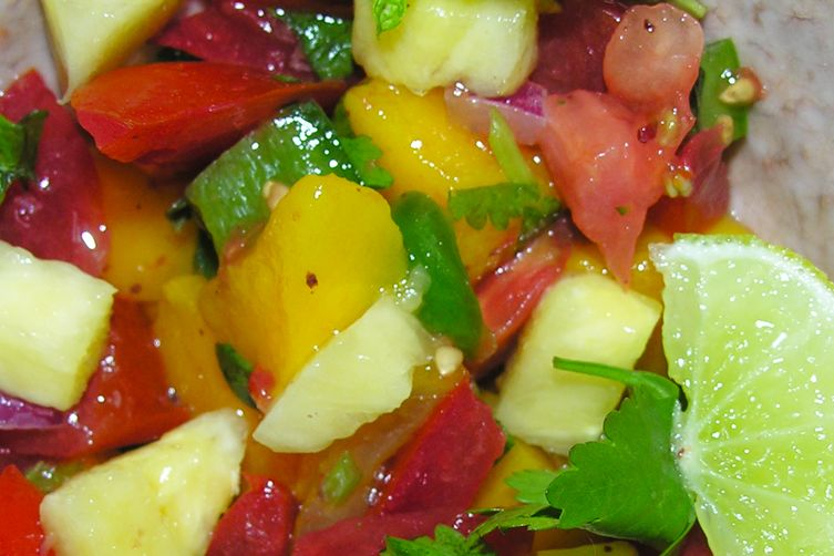 A luscious fruity sunset salsa 1