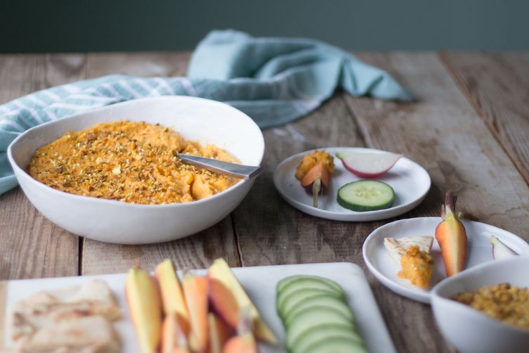 Spicy Butternut Squash Dip with Dukkah 1