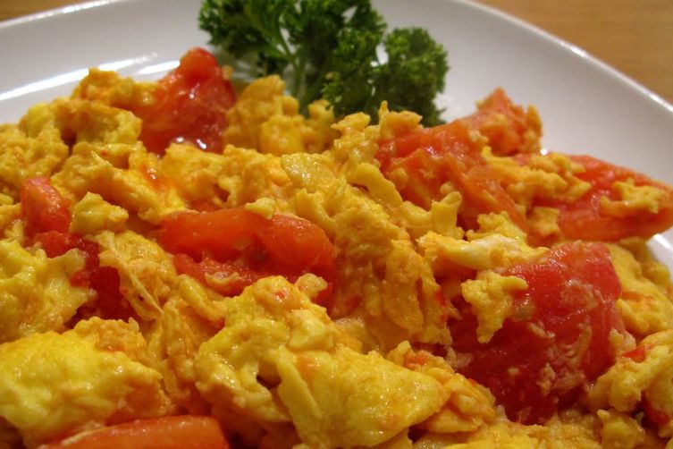 Scrambled Eggs with Tomatoes. 1