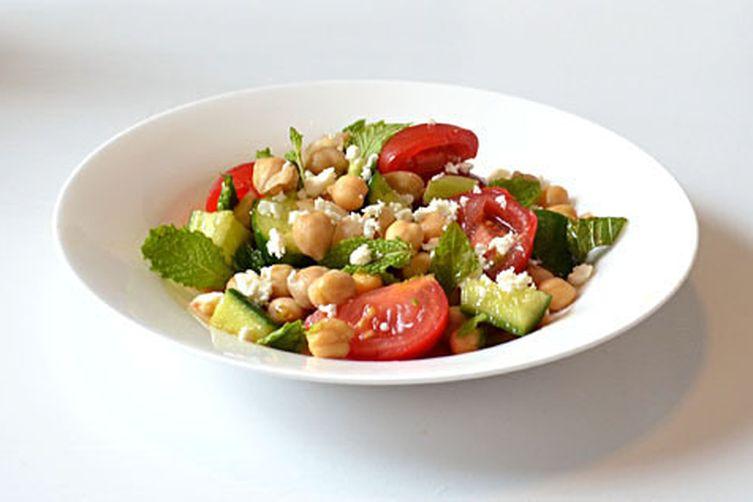 Light & Lemony Chickpea Salad with Fresh Mint andFeta 1