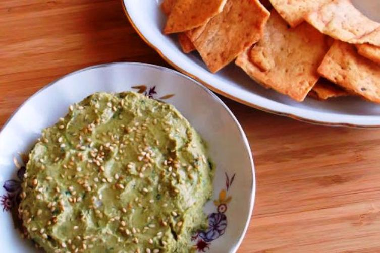 The Absolute Best Homemade Humus with Mustard Greens andLebni 1