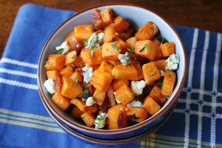 Butternut Squash with Bacon and Blue Cheese 1