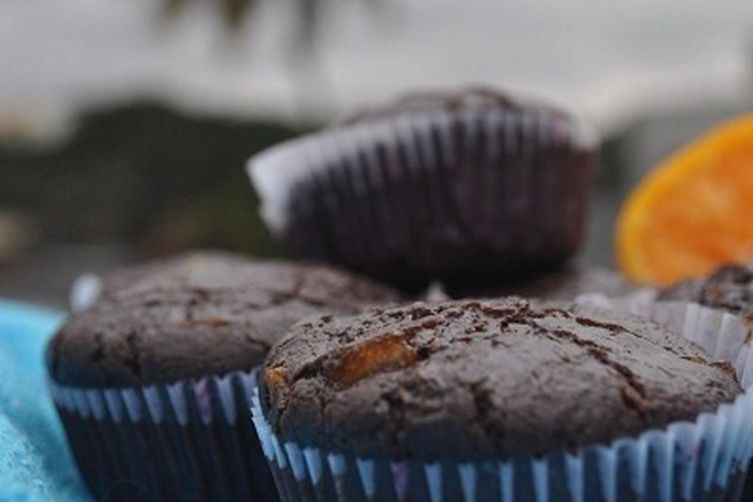 Candied Orange and Chocolate muffins 1