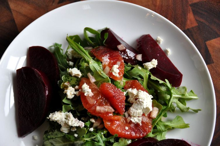 Beet Root Salad with Blood Oranges and Goat's Cheese 1