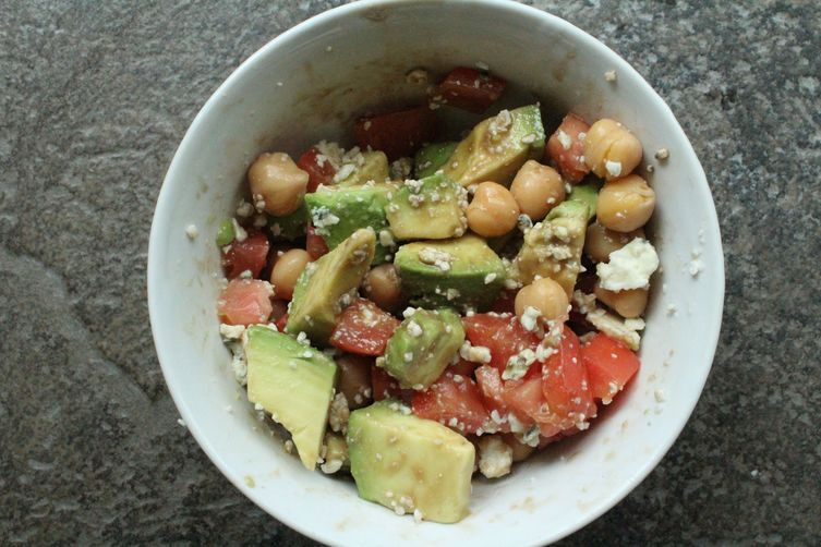 Garbanzo Bean Salad with Tomato, Avocado, Blue Cheese andBalsamic 1