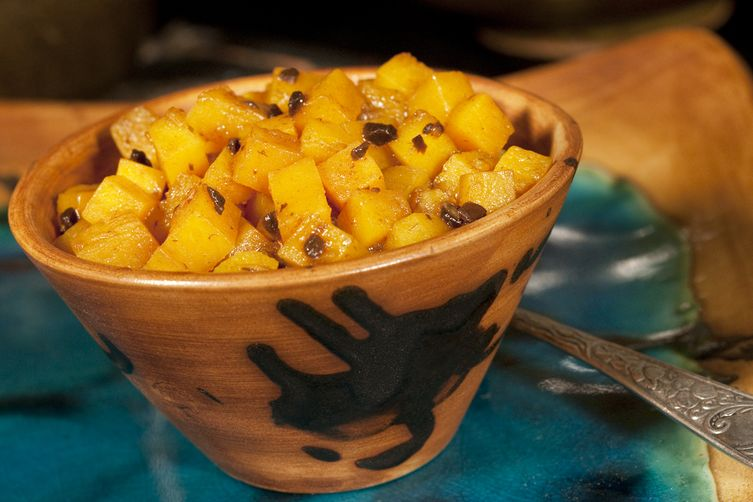 "Finger Lakes Fall Relish: Butternut Squash ""Duet"" with Black Garlic 1"