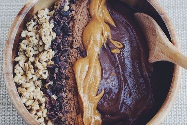 Chocolate Peanut Butter Protein AcaiBowl