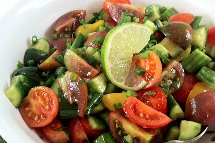Persian Salad ~ An Easy, Refreshing Chopped Salad with a Twist of Lime 1