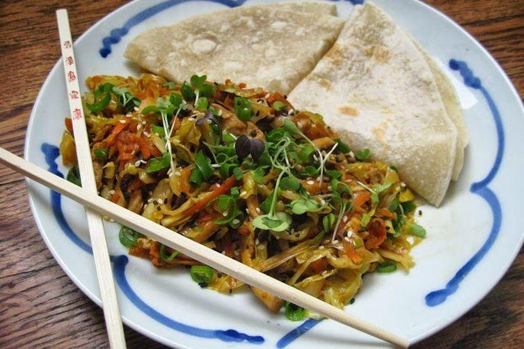 Mu Shu vegetables, vegan but your friends will neverknow!