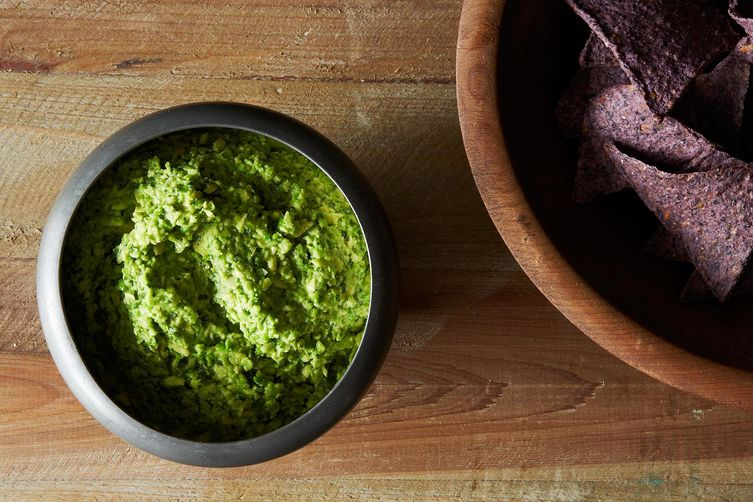 Smashed Pea Guacamole with Cilantro, Ginger andLime 1