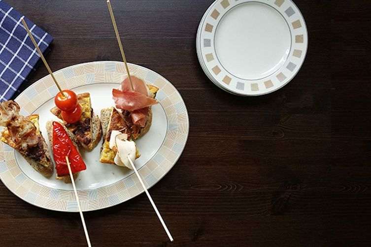 Tempting Spanish tortilla tapas pinchos