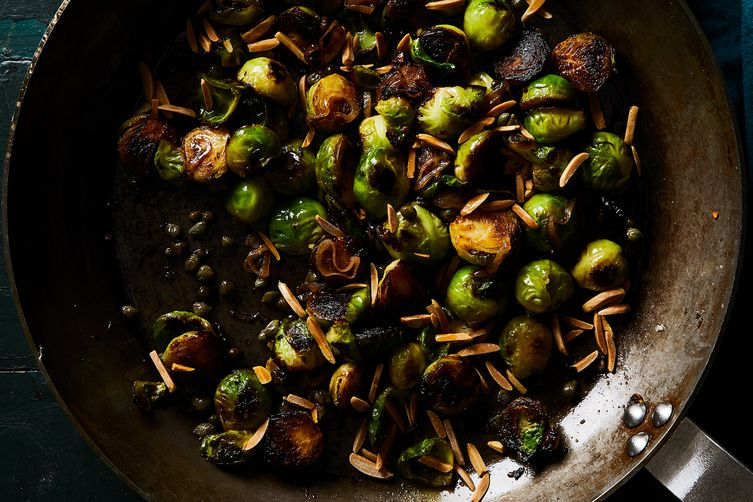 Pan-Roasted Brussels Sprouts with Capers and Almonds 1